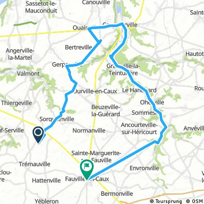 Long bike tour through Ricarville