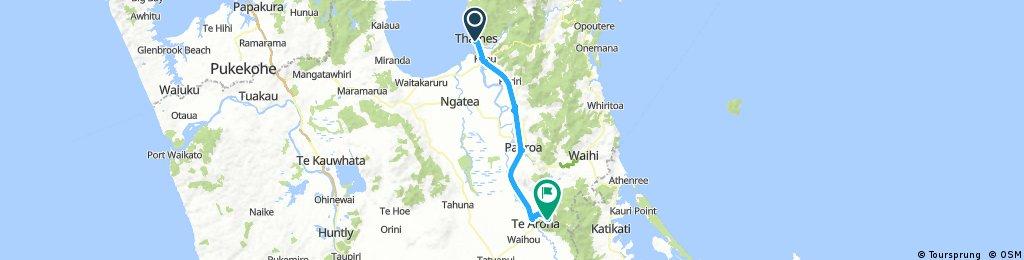 NZ Vom Firth of Thames zum Aussichtsberg Mount Te Aroha