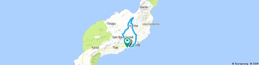Arrecife-Teguise-Farama-San Bartolomé-honda