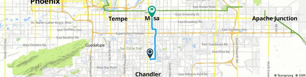 Chandler to Downtown Mesa