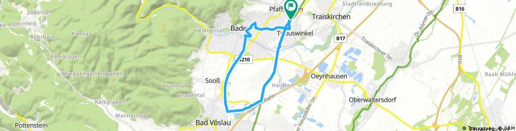 bike tour through Pfaffstatten