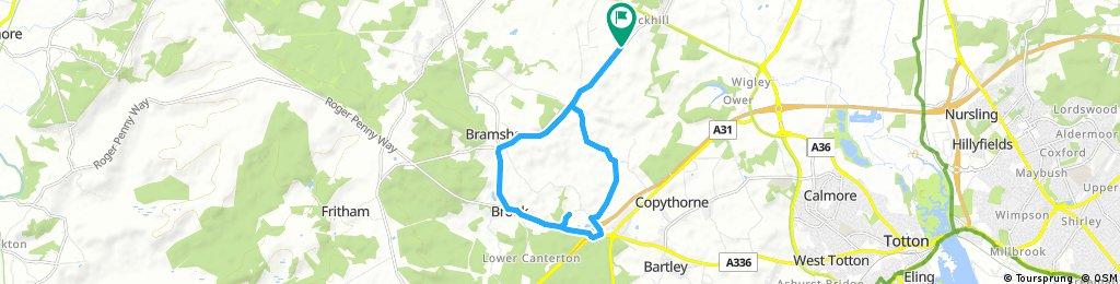 Bike road to Bell Inn