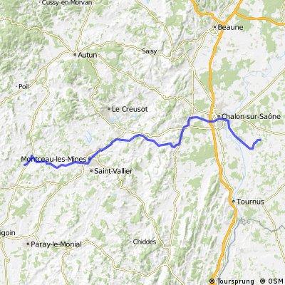 Schweiz - Atlantik; 04. Etappe St Christophe en Bresse, Gitte des Chenes - Toulon-sur-Arroux,  Camping Le Lac des Arrouettes