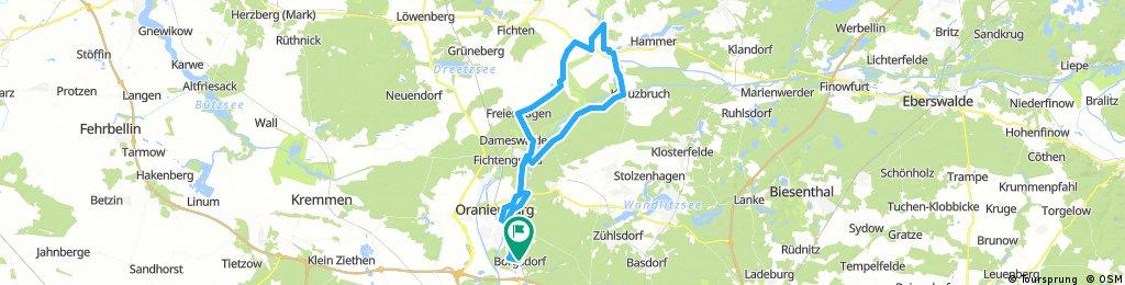 Kleine OHV-Runde (Borgsdorf, Oranienburg, Liebenwalde...)