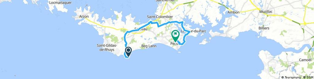 ride trop St Jacques  Saint-Gildas-de-Rhuys to S   St Jacques Penvins