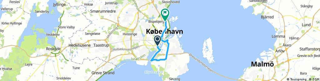 ride through Copenhagen