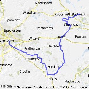 Norwich to Martham via Reedham
