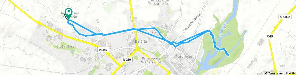 Brief ride through Lleida