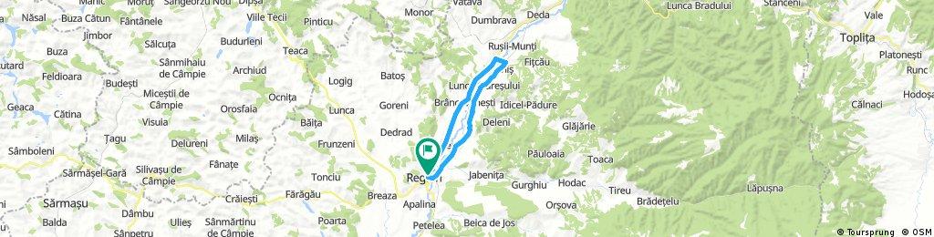 Long ride through Reghin