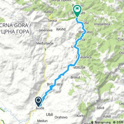 MTB/road Podgorica (bioce)-Kolasin Chalet 58km