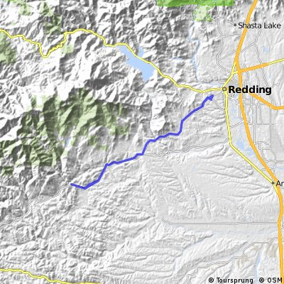 Placer just past Ono - 40 miler