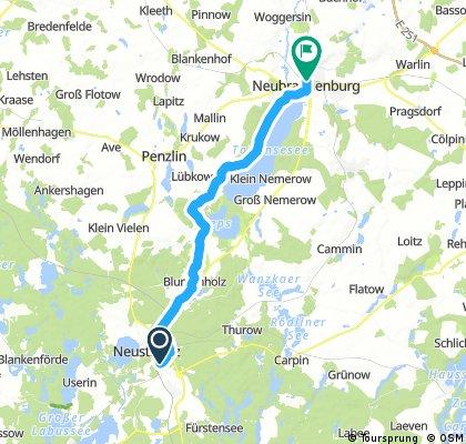 Lange Ausfahrt von Neustrelitz nach Neubrandenburg