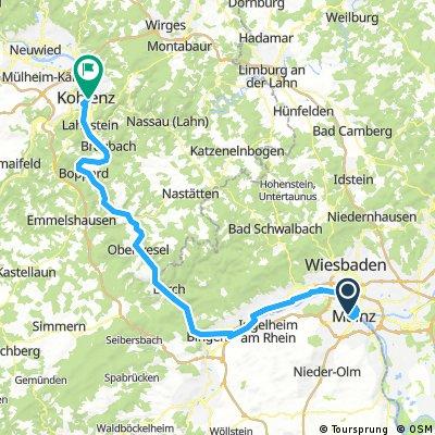 Mainz nach Koblenz von Bikeline