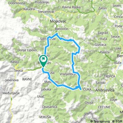 MTB Chalet-Vranjak-Biogradsko lake - Chalet 84km