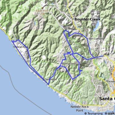 Santa Cruz, CA: Bonny Doon and Swanton Loop