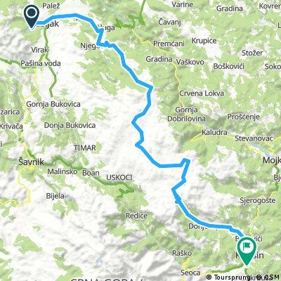 MTB Zabljak(Crno jezero)-Sinjavina-Chalet 82km