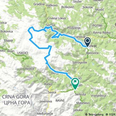 MTB Mojkovac-Zabojsko jezero-Lipovo-Chalet 90km