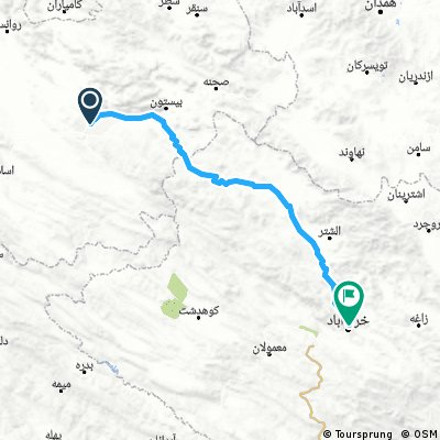 Kermanshach - Chorramabad (200 km, 2000 m)