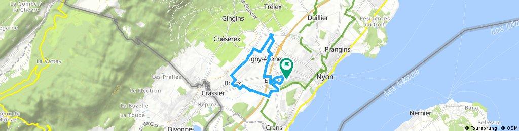 bike tour from Nyon to Pastviny
