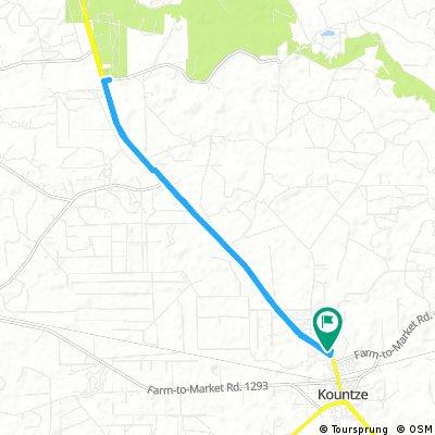 ride through Kountze