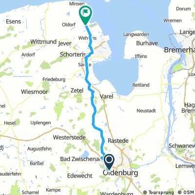 Lengthy ride from Oldenburg to Wangerland