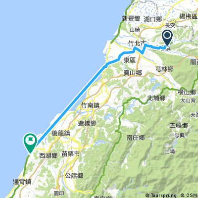 ride from 新埔鎮 to 通霄鎮