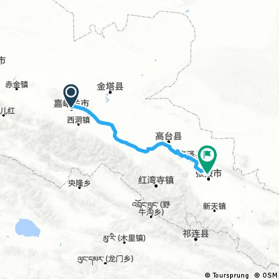 Jiayuguan Zhangye ca 249 km