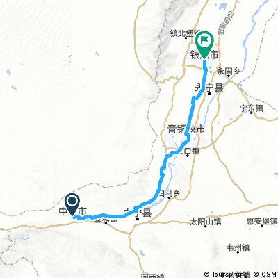 Zhongwei - Yinchuan ca 185 km