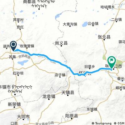 Jining (Ulanchab) - Zhangjiakou ca. 173 km
