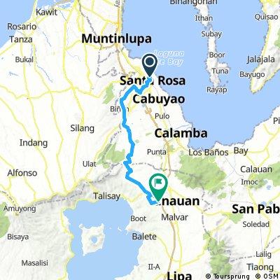 Sta. Rosa Laguna to Brgy. Natatas, Tanauan Batangas.
