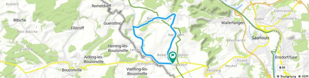 Sternfahrt zum Radrennen des RSC Überherrn e.V. am 23.04.2017