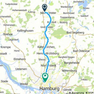 Neumünster nach Hamburg