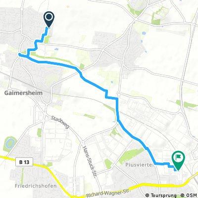 Schnelle Ausfahrt von Gaimersheim nach Ingolstadt