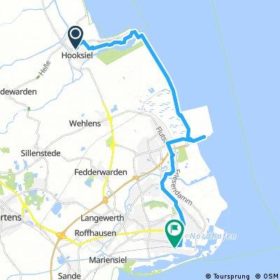 bike tour from Wangerland to Wilhelmshaven