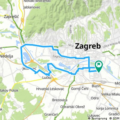 Cycling Routes And Bike Maps In And Around Grad Zagreb Bikemap Your Bike Routes