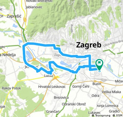 Krug Travno Sveucilisnabolnica Lucko Rakitje Stara Samoborska Slavnoska Travno Bikemap Your Bike Routes