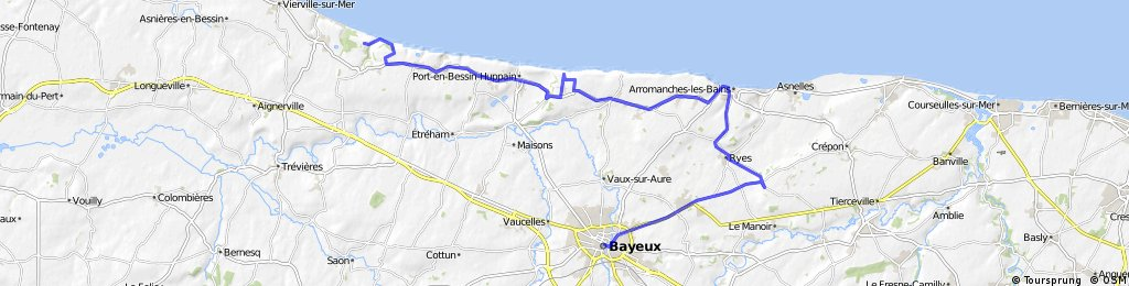 Normandy D-Day Beaches | Bikemap - Your bike routes on