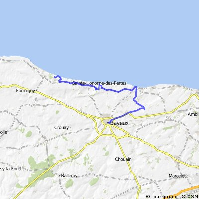 Normandy DDay Beaches Bikemap Your bike routes