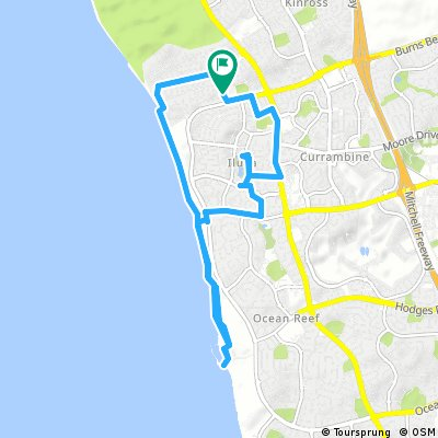 bike tour through Burns Beach