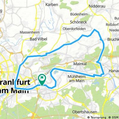Lange Ausfahrt durch Offenbach am Main
