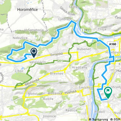 Cesta z práce přes Šárku 22,5 km-80 vm