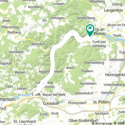 Wachau - Von Mautern zum Stift Melk (und retour)