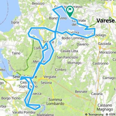 Giro dei laghi di Varese, Monate e Comabbio fino al Ticino e Sesto Calende (Varese)