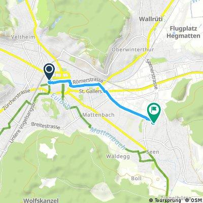 Kurze Radrunde durch Winterthur
