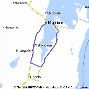 Cycling routes and bike maps in and around Inhambane Province