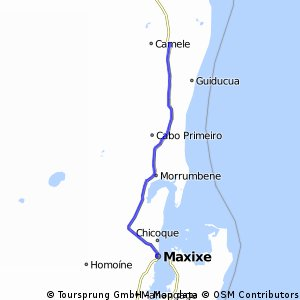 Cycling routes and bike maps in and around Maxixe Bikemap Your