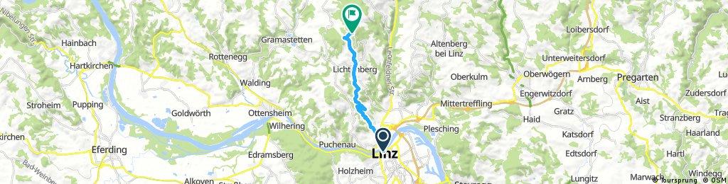 GIS MTB über Linz Hauptplatz