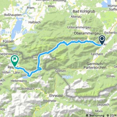 Ammergauer - Oberau nach Reutte