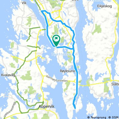 Long bike tour through Vormedal