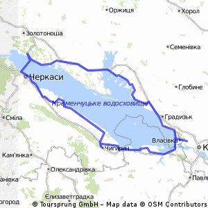 Cycling Routes And Bike Maps In And Around Kremenchuk Bikemap - Kremenchuk map